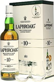 Laphroaig 10 Years Old 40% Volume 0,7l in Geschenkbox mit 2 Nosing-Gläsern Whisky