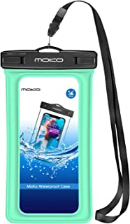 MoKo Flytande vattentät telefonpåse [3-pack], flyttbart telefonfodral torr väska med snodd armband kompatibel med iPhone 1...