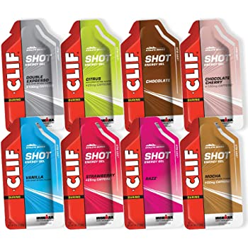 CLIF SHOT - Energy Gels - 8 Flavor Variety Pack - Non-GMO - Non-Caffienated - Fast Carbs for Energy - High Performance & Endurance - Fast Fuel for Cycling and Running (1.2 Ounce Packet, 8 Count)