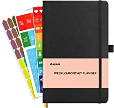 iBayam Planner 2019 2020, Undated 12 Month Planner, Academic Weekly Monthly and Yearly Planner to Achieve Your Goals & Improve Productivity, Size 5 x 8'' (Black)