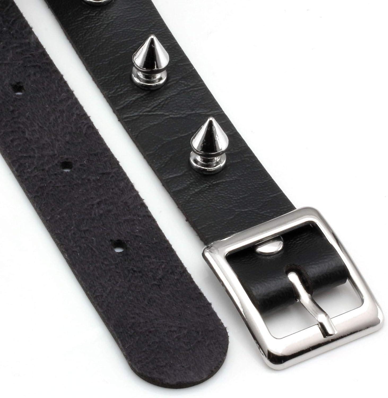 MILAKOO Fashion Women Men Cool Punk Goth Metal Spike Studded Leather Collar Choker Necklace