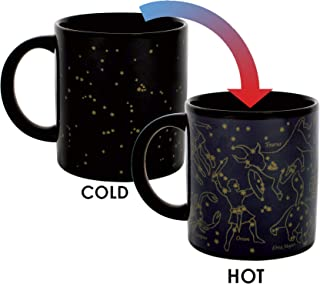Heat Changing Constellation Mug - New Gold Stars - Add Coffee or Tea and 11 Constellations Appear - Comes in a Fun Gift Box