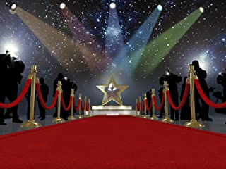 Red Carpet Hollywood Star Spotlights Paparazzi Edible Cake Topper Image ABPID06875 - 1/4 sheet