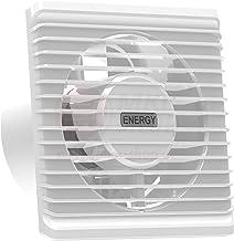 con sensor de humedad Ventilador empotrado de ba/ño de primera calidad ventilador de techo con higrostato y temporizador color blanco parte frontal di/ámetro 100 mm 10 cm para cocina y ba/ño MKK