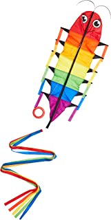 HQ Kites Crazy Flapping Kite - Willie Worm - Rainbow Color Single - Line Motion Kite - Active Outdoor Fun for Ages 5 Years and Up