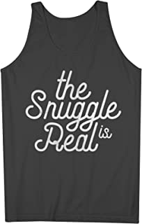 The Snuggle Is Real おかしいです Double Meaning 皮肉な Gags 男性用 Tank Top Sleeveless Shirt
