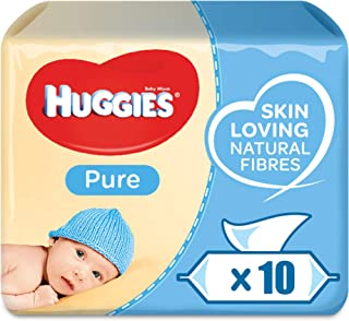 HUGGIES BABY WIPES PURE, 56s x 10 (560 Wipes)