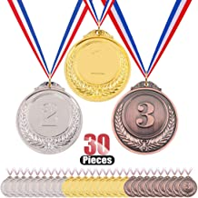 Hilitchi Gold Silver Bronze Award Medals - Olympic Style Winner Medals Gold Silver Bronze with Ribbon