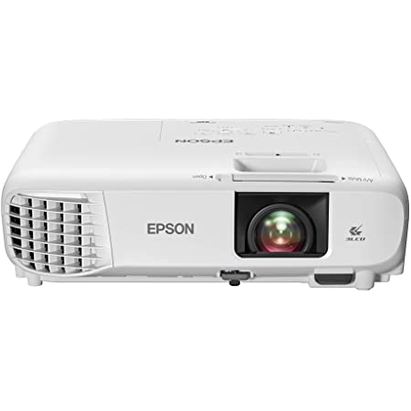 Epson Home Cinema 880 3-chip 3LCD 1080p Projector, 3300 lumens Color and White Brightness, Streaming and Home Theater, Built-in Speaker, Auto Picture Skew, 16,000:1 Contrast, HDMI 2.0, White