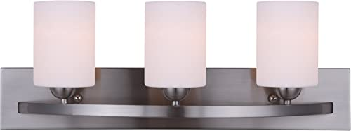 2021 CANARM LTD. IVL370A03BPT Hampton 3 high quality Bulb Vanity Light, online Brushed Pewter online