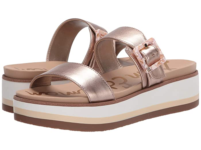 Sam Edelman  Agustine (Champagne Rose Soft Metallic Sheep Leather) Womens Shoes