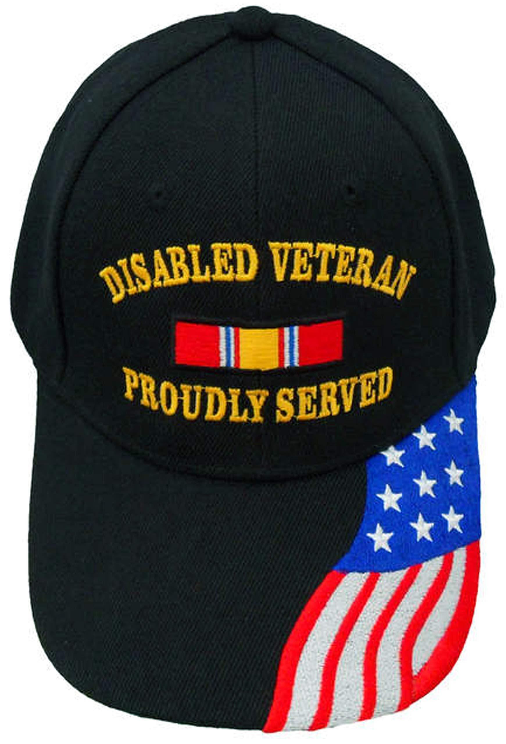 Discapacitados Estados Unidos veterano negro gorra de béisbol ...