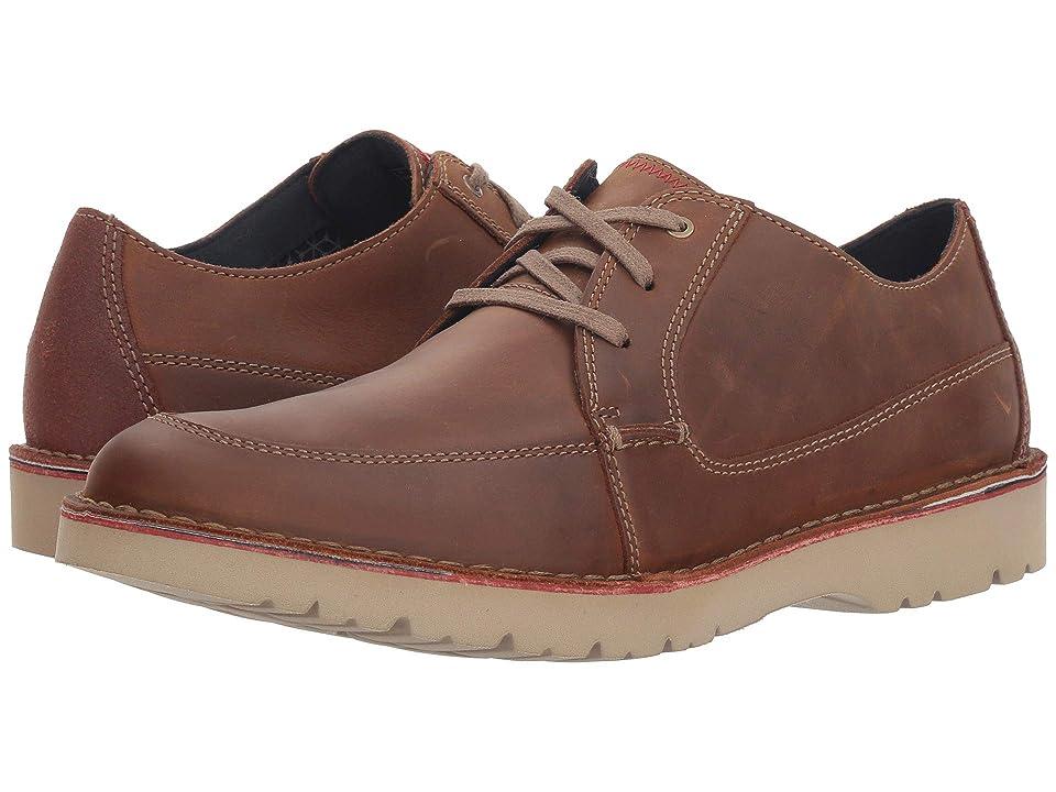 Clarks Vargo Walk (Dark Tan Leather) Men