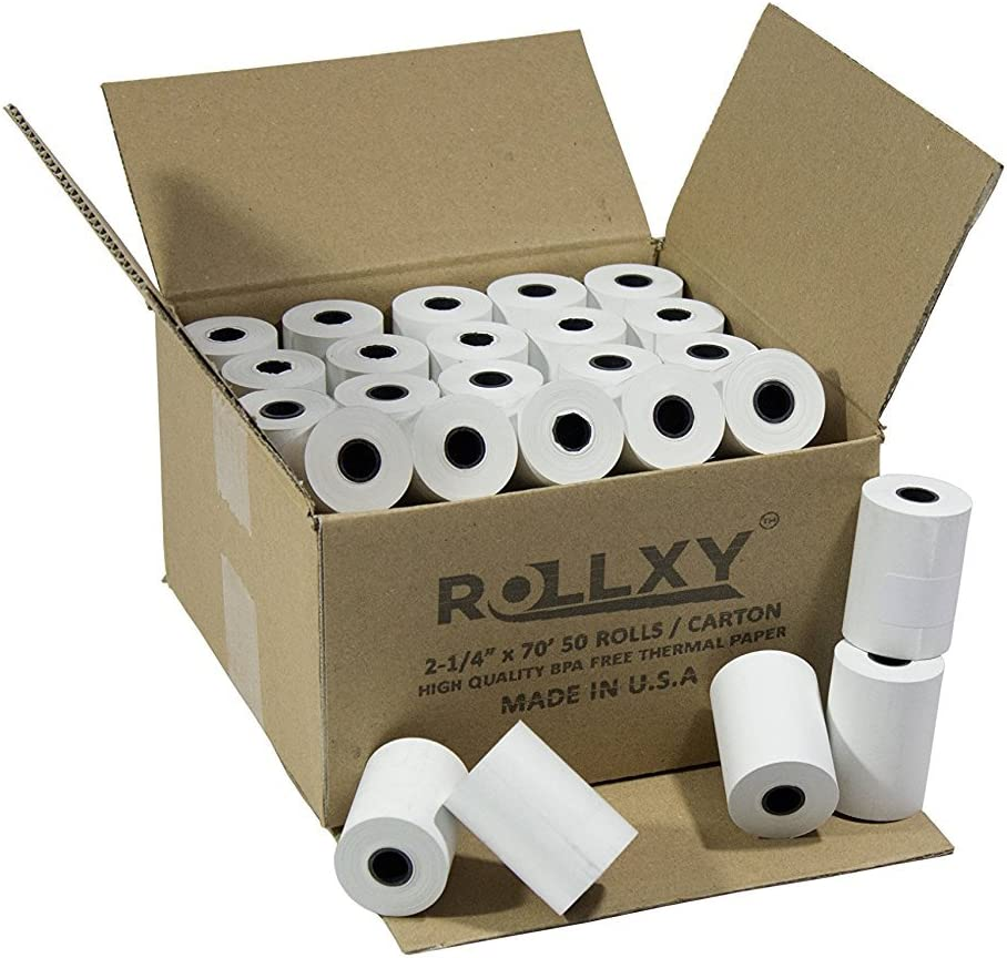 Dallas Mall 2 1 4'' by Rapid rise 70' 50 Thermal Paper Rolls