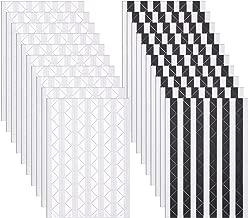 Bememo 2040 Pieces Photo Corners Self Adhesive for Scrapbook Picture Album (Black and White)