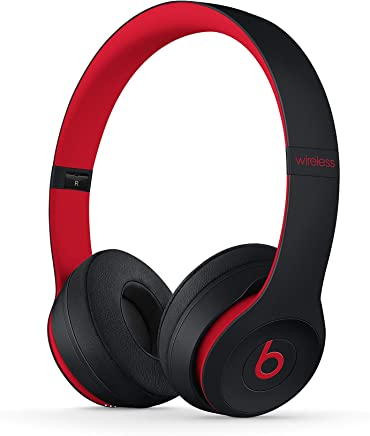 Beats Solo3 Wireless On-Ear Headphones - The Beats Decade Collection - Defiant Black-Red (Renewed)