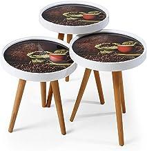 طاولات متدرجة الحجم بنمط رترو، 3 في 1