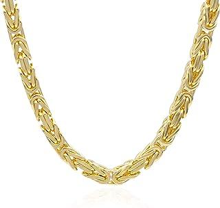 Collana in oro. 14K. Catena bizantina. Peso gr 60.80 - Lunghezza 65 cm.