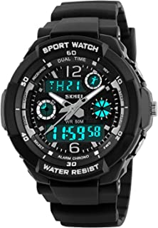 Boys Watches, Kids Sport Multi Function 50M Waterproof Digital Analog with Alarm LED for Girls Child