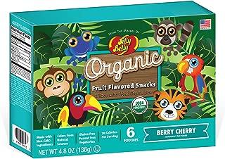 JELLY BELLY Organic Berry Cherry Fruit Snack, 4.8 OZ