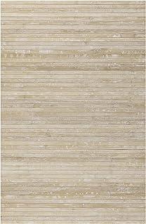 STORESDECO Alfombra de Bambú Natural, Antideslizante, Ideal para salón, baños, pasillos. ¡Disponible en Medidas Grandes! (120cm x 180cm, Beige)