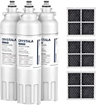 Crystala Filters ADQ73613401 for LG refrigerator water filter, Compatible LT800P for LG,ADQ73613408, ADQ73613402, 9490and ...