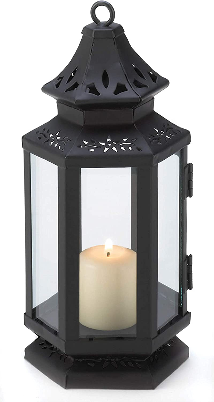 Set of 55% OFF 3 Black Stagecoach Popular brand Decor Candle Holder Hanging Lantern