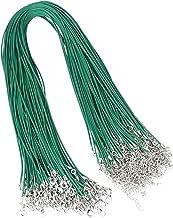 Jewelry rope 20 stks 1.5mm lederen koord koord wax touw 45 + 5 cm ketting ketting kreeft sluiting DIY Sieraden maken bevin...