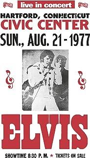 "Elvis Presley Live Hartford Civic Center Connecticut 13""x22"" Vintage Style Showprint Poster - Concert Bill - Home Nostalgia Decor Wall Art Print"