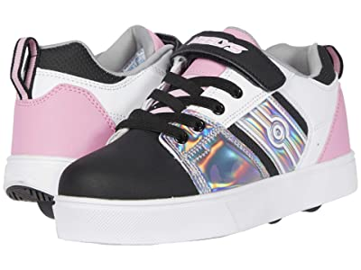 Heelys RacerX220 (Little Kid/Big Kid) (Black/Sliver/White/Light Pink) Girl