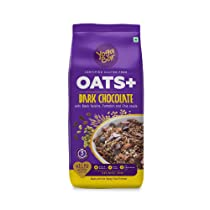 [LD] Yogabar Dark Chocolate Oats 1kg | Wholegrain Oatmeal That Helps Reduce Cholesterol | Healthy Breakfast Cereal High in Protein & Gluten-Free | Now with Black Raisins