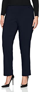 SLIM-SATION Women's Plus Size Pull on Slant Pocket Solid Pant Surround Comfort