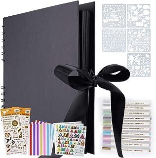 Album Photo, Album Photo à concevoir Soi-même,LivrePhoto DIY 80 pages,Format 28,5x21cm, Peut être Utilisé Comme Cadeau de ...