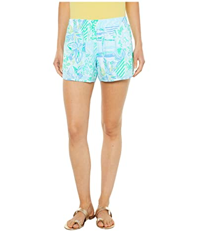 Lilly Pulitzer Ocean Trail Shorts (Whisper Blue Beach Happy) Women