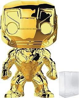Marvel Studios 10th Anniversary - Iron Man (Gold Chrome) Pop! Vinyl Figure (Includes Compatible Pop Box Protector Case)
