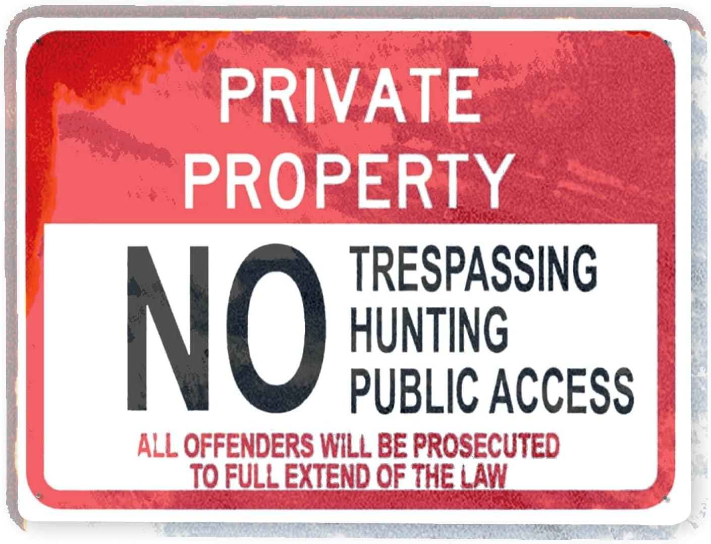 J.DXHYA Man Cave Ranking TOP15 Decor 2 Pieces Trespassing Hunt Many popular brands no Warning Sign