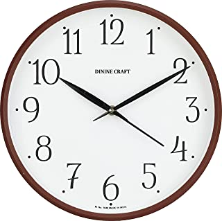 Dinine Craft® Plastic Wall Clock for Home and Wall Décor (cola)