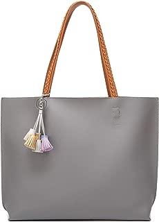 Caistre Women's Leather Tote Bag Large Designer Handbag Ladies Satchel Hobo Top Handle Purse Big Capacity Bags 2pcs