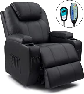 Homall Power Lift Recliner Chair with Massage Single Living Room Huge Thick Padded Heating Function Sofa Seat, Black