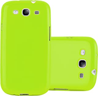 Cadorabo Case Works with Samsung Galaxy S3 / S3 NEO in Jelly Green – Shockproof and Scratch Resistant TPU Silicone Cover – Ultra Slim Protective Gel Shell Bumper Back Skin