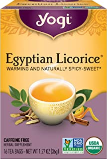 Yogi Tea - Egyptian Licorice (4 Pack) - Warming and Naturally Spicy Sweet - 64 Tea Bags