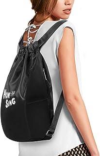 حقيبة ظهر رياضية برباط سحب، حقيبة سفر لصالات الألعاب الرياضية، حقيبة يومية، حزام قابل للتعديل، سعة كبيرة للنساء والرجال