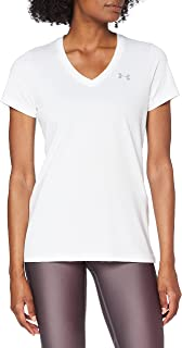Under Armour Women's Tech Short Sleeve V - Solid Ladies T Shirt Made of 4-Way Stretch Fabric, Ultra-light & Breathable Run...