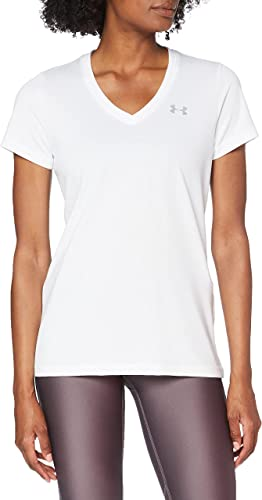 Under Armour Women's Tech V-Neck Short-Sleeve T-Shirt white t shirt for women
