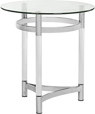 Safavieh Couture Home Letty Glam Silver Acrylic Glass Top End Table