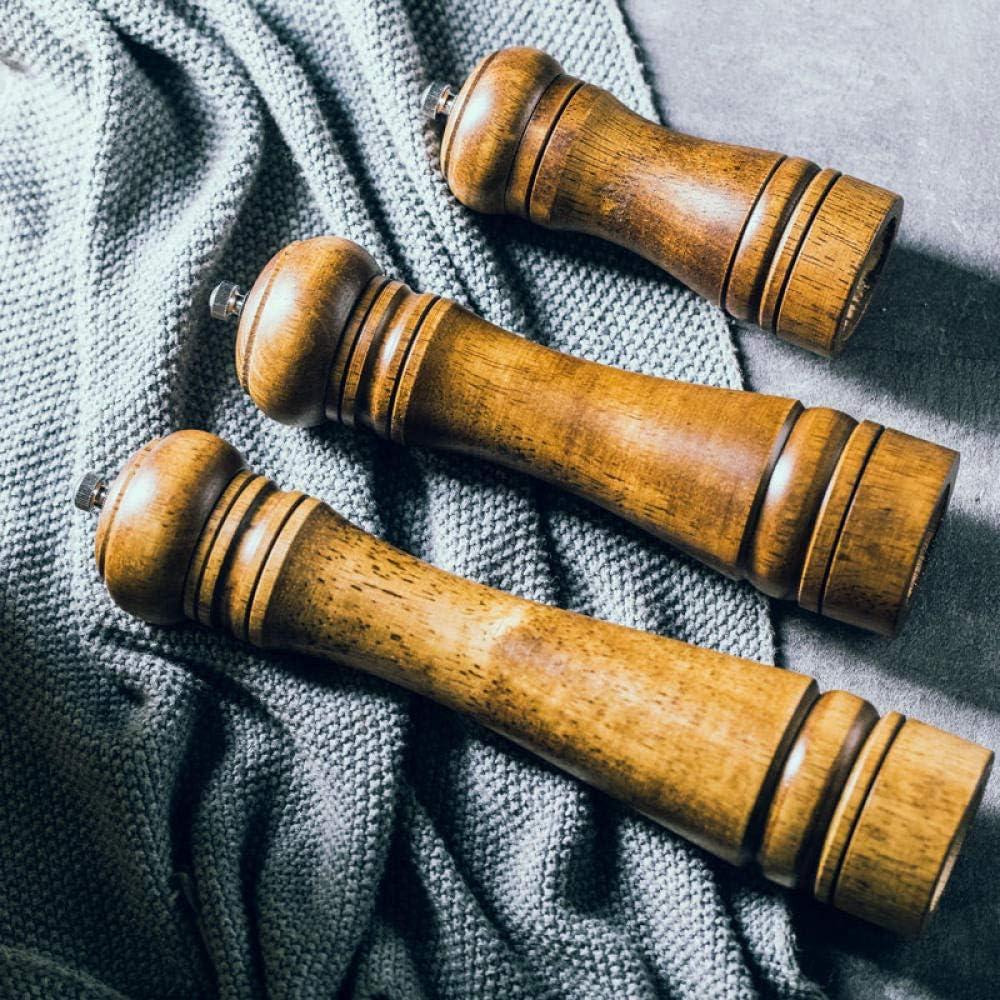 Salz- und Pfeffermühle, manuelle Gewürzmühle, Gewürzglas, mit einstellbarer Grobheit, Holz, Küche, Restaurant, Grill, Picknick-Eiche groß Oak Trumpet