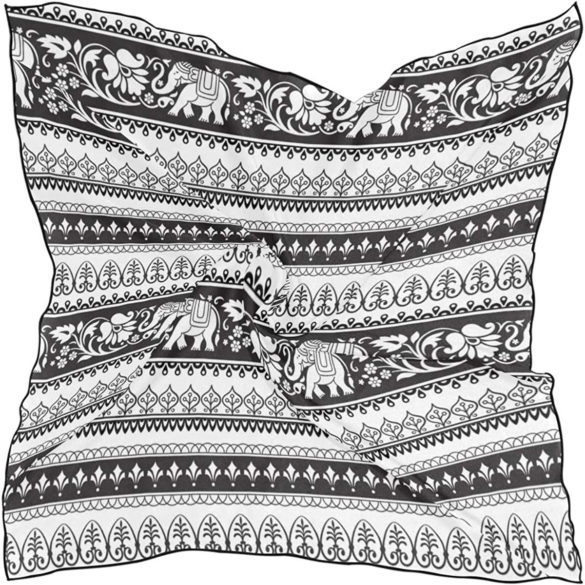 Soft Polyester Silk Spring Scarves 1 year warranty Print Ethnic E Fashion OFFicial Indian