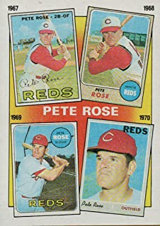 PETE ROSE COLLECTIBLE TRADING CARD - 1986 TOPPS BASEBALL CARD #2 (CINCINNATI REDS - FEATURES YEARS 1967, 1968, 1969 & 1970) FREE SHIPPING