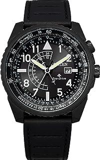 Men's Citizen Eco-Drive Promaster Nighthawk Strap Watch with Black Dial BJ7135-02E