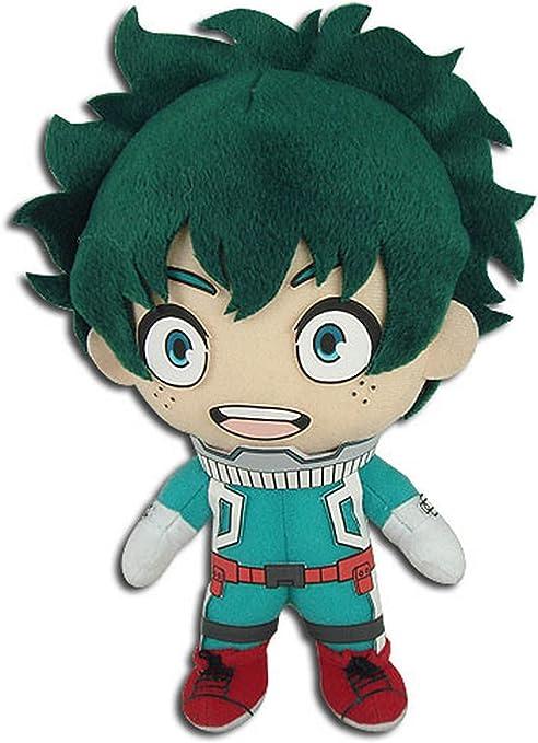 GE 动漫我的英雄学院 GE-52235 Izuku Midoriya 英雄服装毛绒玩具,多色,8 英寸(约 20.3 厘米)
